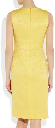 Oscar de la Renta Cotton and silk-blend brocade dress