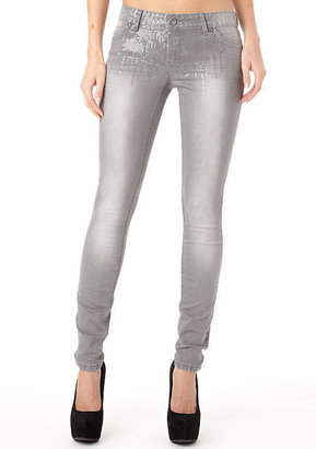 First Kiss Sequin Skinny Jean