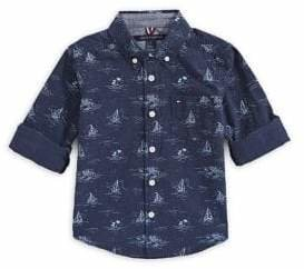 Tommy Hilfiger Little Boy's Printed Cotton Button-Down Shirt