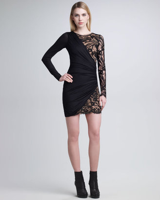 Emilio Pucci Long-Sleeve Lace-Panel Dress