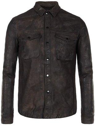 AllSaints Ruin Leather Shirt