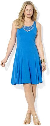 Lauren Ralph Lauren Plus Size Dress, Sleeveless Lace A-Line