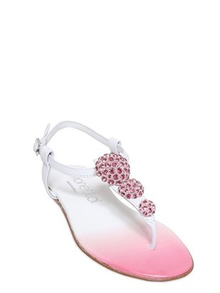 Simonetta Jewel Leather Sandals