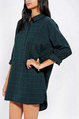 BDG Button-Front Flannel Tunic