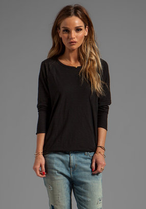 James Perse Double Layer and Stripe Raglan