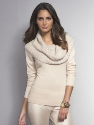 New York & Co. Sequin Cowl-Neck Pullover