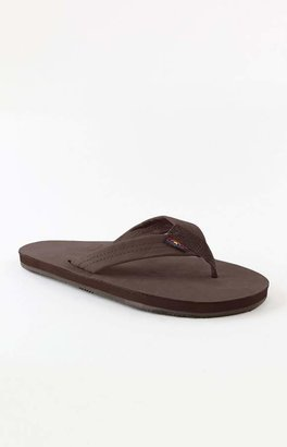 Rainbow Premier Single Layer Brown Flip Flops