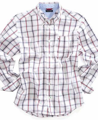 Tommy Hilfiger Little Boys' Cotton Plaid Shirt, Little Boys 2-7