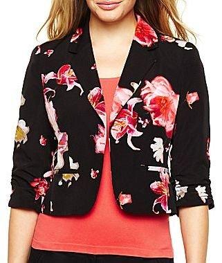 JCPenney Worthington® Shirred-Sleeve Blazer