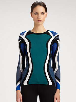 Peter Pilotto Colorblock Knit Pullover