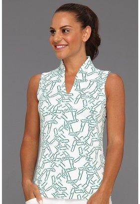 Intermix Tail Activewear - Manhattan Sleeveless Polo Print) - Apparel
