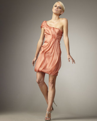 J. Mendel Organza One-Shoulder Dress