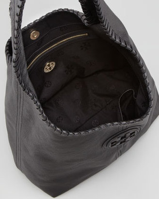 Tory Burch Marion Whipstitched Hobo Bag, Black