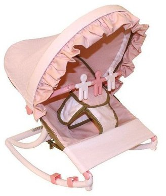 Hoohobbers Rocking Infant Seat - Classic Pink