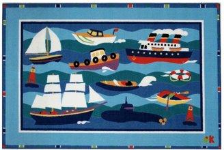 Fun Rugs Olive Kids Boats & Buoys Rug