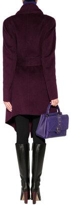 Donna Karan Cashmere Belted Coat in Claret