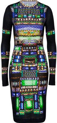 Peter Pilotto Black-Multi Wool Jersey Dress