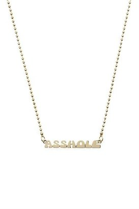 Marc Jacobs Nameplate Necklace - Asshole