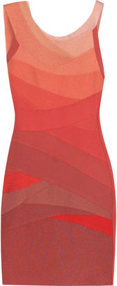 Herve Leger Cyrille ombré dress