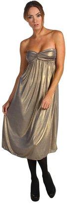 Tibi Strapless Dress (Gold) - Apparel