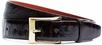 Brooks Brothers Brown Ostrich Leather Belt