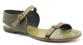 "Pedro Garcia Gillian"" Olive (Green) Leather Flat Sandal"