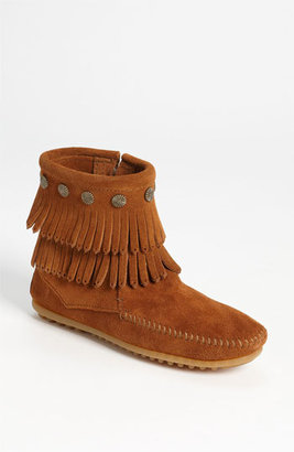 Women's Minnetonka Double Fringe Boot $62.95 thestylecure.com
