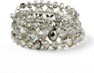 Vera Wang Simply vera bead coil bracelet