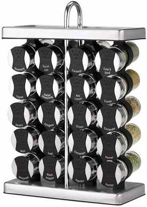 Martha Stewart Collection 21-Piece Space Saver Spice Rack Set,