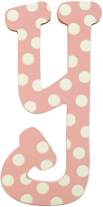 My Baby Sam DW Polka Dot Letter Y - Pink/White