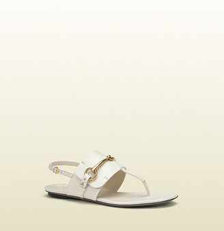 Gucci Ursula White Leather Thong Sandal