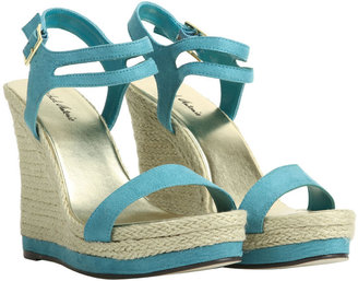 Arden B Faux Suede Natural Wedge