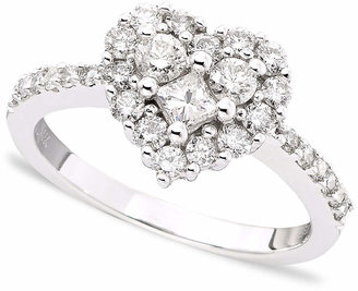 Effy Classique by Diamond Heart Ring (9/10 ct. t.w.) in 14k White Gold or Rose Gold