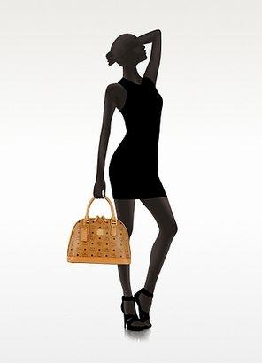 MCM Heritage Cognac Bowler Bag