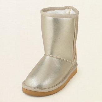 Children's Place Metallic chalet boot
