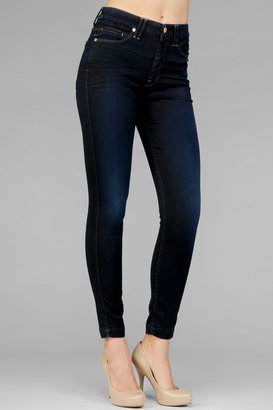 7 For All Mankind The High Waist Skinny In Knit-Like Illustrious Blue