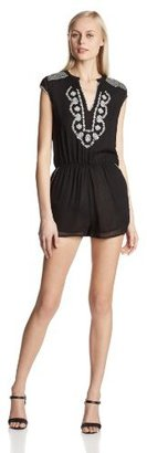Rory Beca Women's Desi Embroidered Romper with Pockets