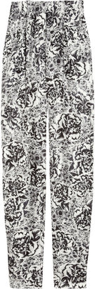 Seventh Wonderland Estelle floral-print silk-twill pants