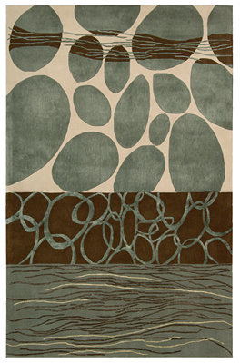 """Nourison Area Rug, Dimensions ND27 Grey/White 3' 6"""" x 5' 6"""""""