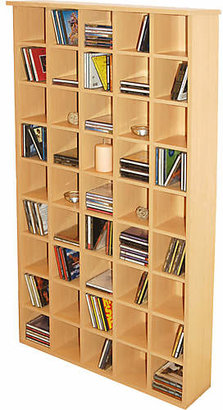 Pigeon Hole CD Storage Unit - Beech