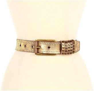 Calvin Klein 1 3/8 Buckle W/ Sliced Studd (Gold) - Apparel