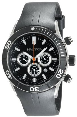 Nautica Men's N16533G NSR 01 Black Resin Strap Chronograph Watch