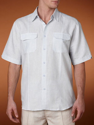 Cubavera Short Sleeve Two Pocket Stripe Shirt