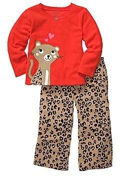 Carter's Carter's® 2-pc. Leopard Microfleece Pajamas - Girls 2t-5t