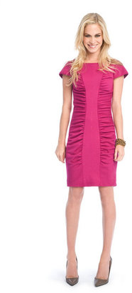 Catherine Malandrino Cap sleeve ruched dress