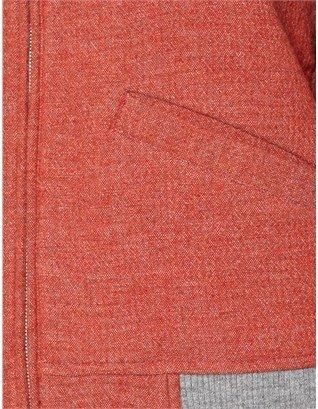 Folk Red Wool Boom Bomber Jacket