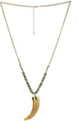Arden B Horn Pendant Necklace