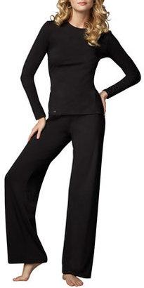 La Perla Tricot Relaxed Pants, Black