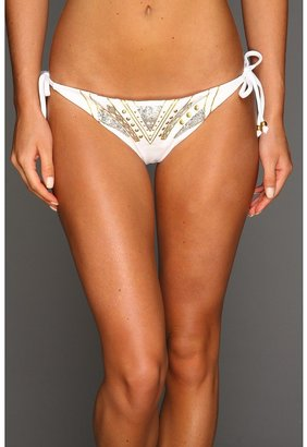 GUESS Soho Sexy Tie Side Pant (White) - Apparel