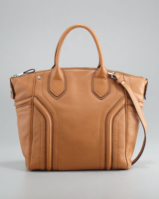 Milly Zoey Leather Tote Bag, Luggage